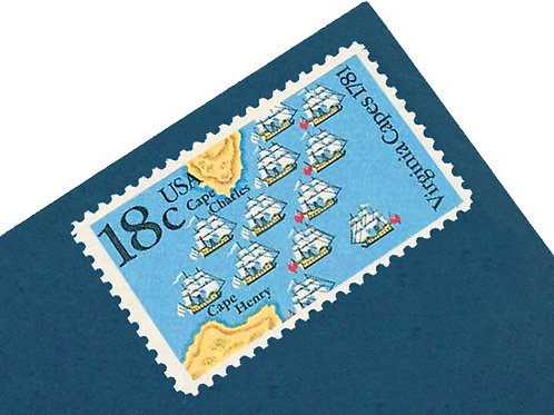 18¢ Battles of Yorktown & Virginia - 25 Stamps