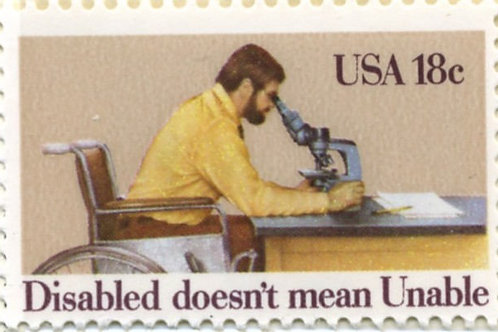 25 Disabled Persons Postage Stamps - 18c - Vintage 1981 - Unused