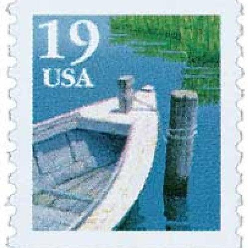 Pack of 25 Unused Fishing Boat - 19c - 1991 - Unused Vintage Postage