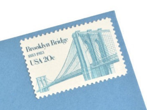 20¢ Brooklyn Bridge - 25 Stamps