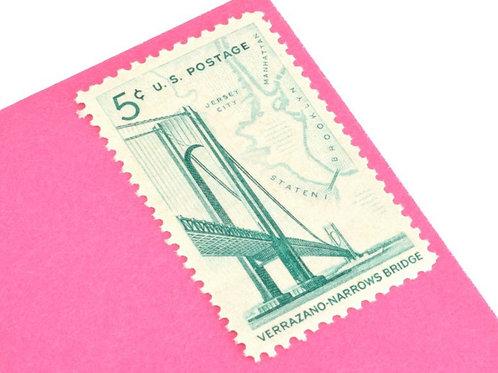 3¢ Michigan Mackinac Bridge - 25 Stamps