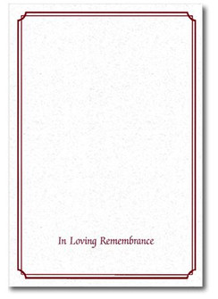 In Loving Remembrance Burgandy Memorial Folder - Personalized*