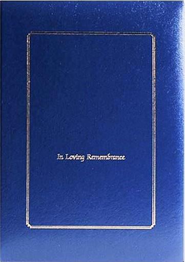 In Loving Remembrance Blue Register Book