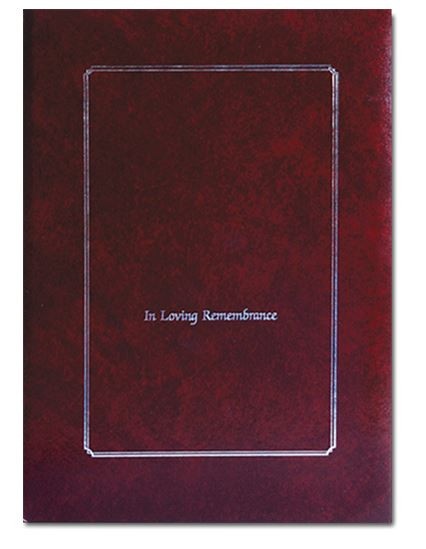 In Loving Remembrance Burgandy Register Book
