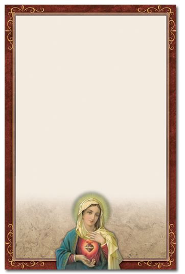 Immaculate Heart of Mary Memorial Folder - Personalized*