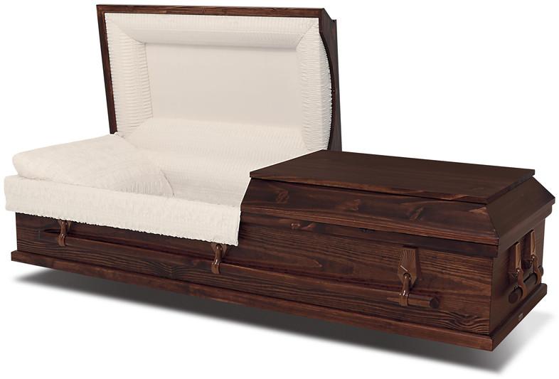 Lyra Brown Cremation Casket