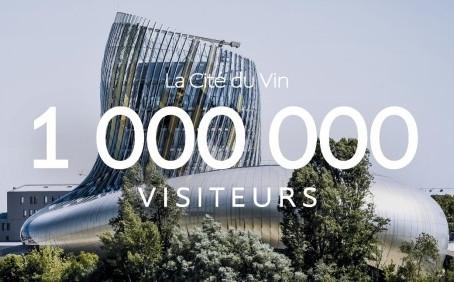 La Cité du Vin : 1 million de visiteurs accueillis !