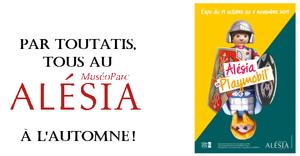 Affiche expo - Alésia Playmobil