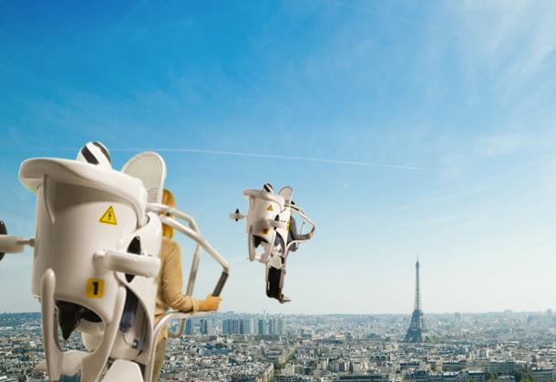 Flyview - Jetpack au dessus de paris