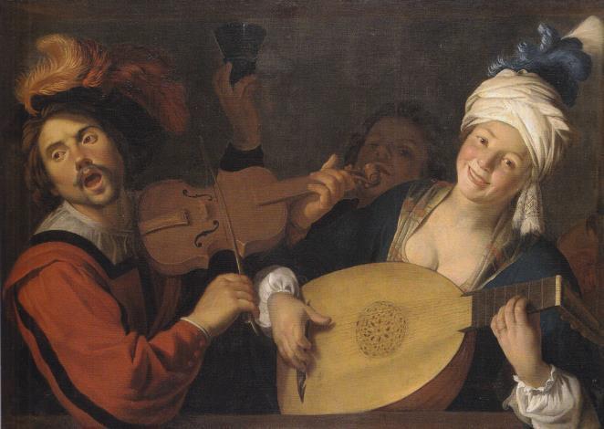 Gerard van Honthorst (1590-1656) Les chanteurs