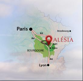 Carte emplacement Alésia