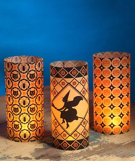 Halloween Kaleidoscope Luminaries by Bethany Lowe Designs