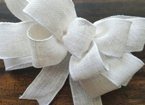 How to make a bow for a package, wreath or bouquet...