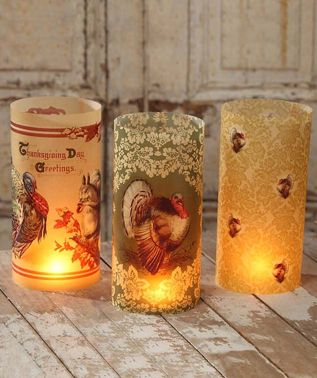 Thanksgiving Luminaries by Bethany Lowe Designs