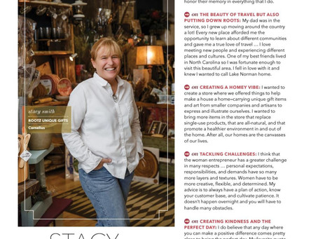 Rootz Featured in Lake Norman Woman