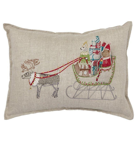 Santa's Sleigh Pocket Pillow