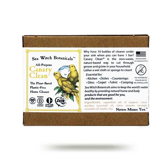 Sea Witch Botanicals Canary Clean Bar