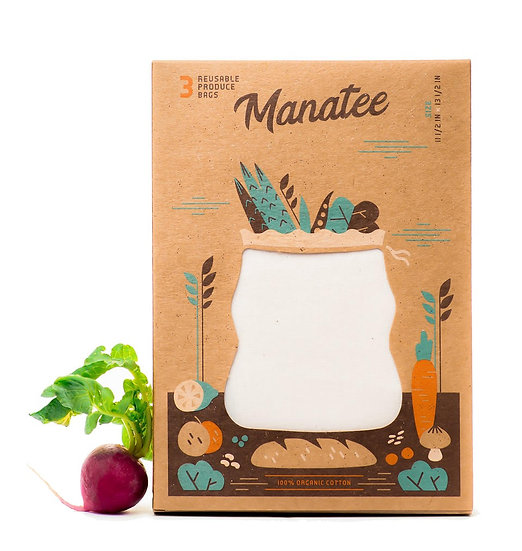 Manatee Organic Cotton Produce Bulk Food Bags