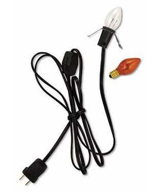 C7 Orange Light with Black Cord