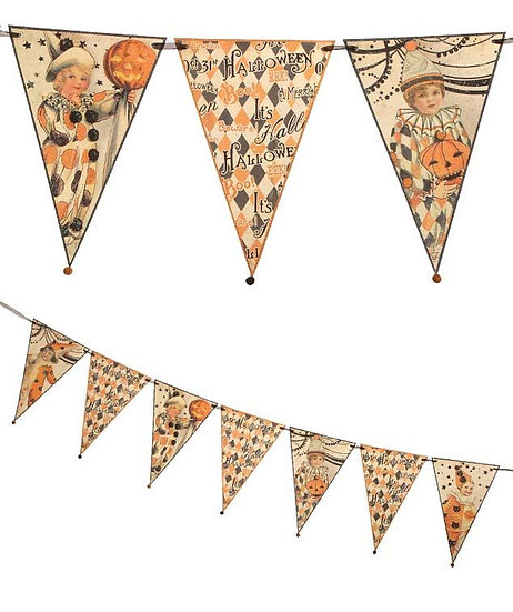 Halloween Children Pennant Garland by Bethany Lowe Designs