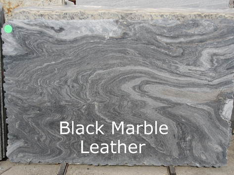 Black Marble Leather