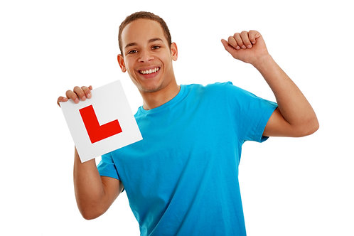 Learner Driver with L Plate