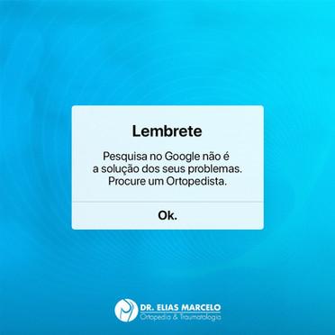 Pesquisa no Google não é a solução dos problemas