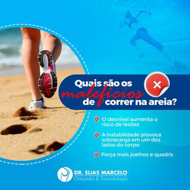 Malefícios de correr na areia