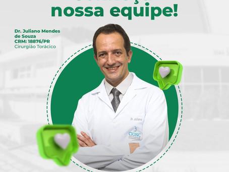 Dr. Juliano Mendes de Souza atua em Cirurgia Torácica e Cardiovascular.