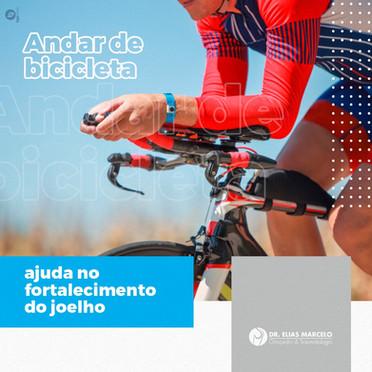 Andar de bicicleta ajuda no fortalecimento do joelho