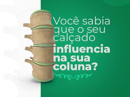 Você sabia que o seu calçado influencia na sua coluna?