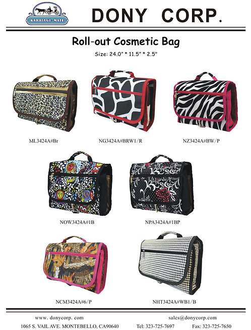 Roll-out Cosmetic Bag