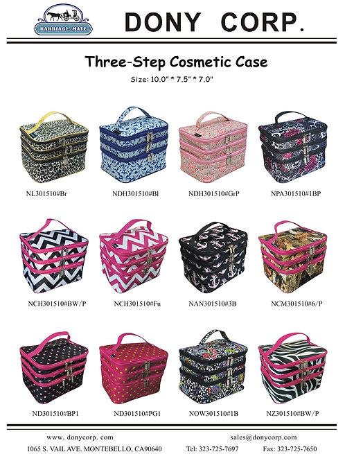 Three-step Cosmetic case