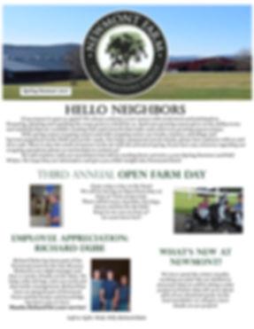 Newmont SpringSummer 2017 Newsletter Fro