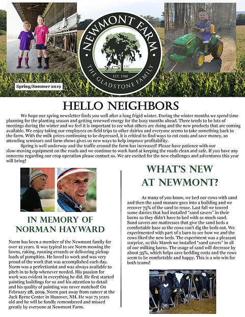 Newmont Spring Summer 2019 Newsletter fr