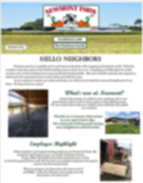 Newmont Summer 2015 Newsletter page 1.jp