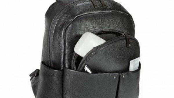 """Leather iPad 11"""" Tablet Mini Backpack Black"""