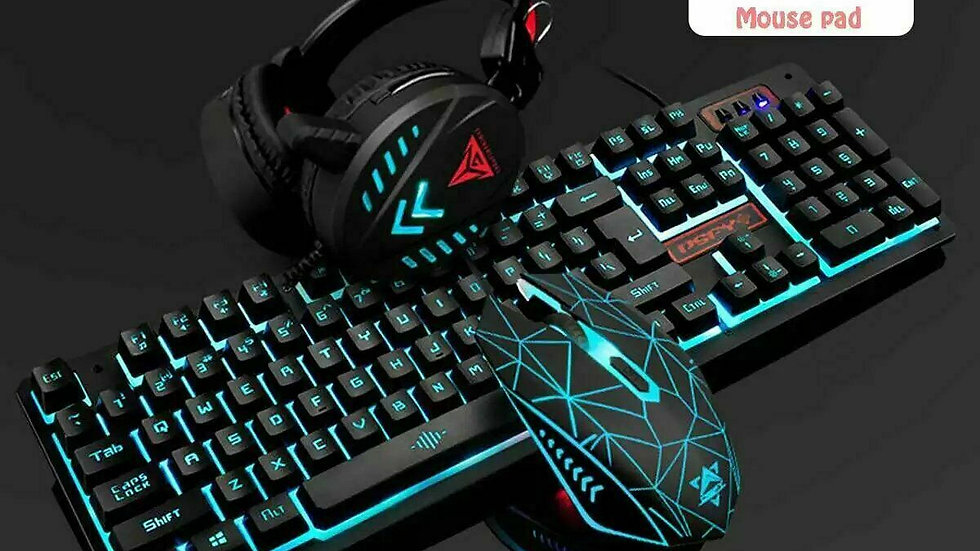 Keyboard / mouse / Gaming Headset / mouse mat