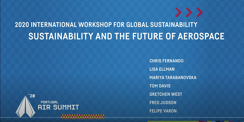 Portugal Air Summit: 2020 PGS Workshop – Sustainability and the Future of Aerospace