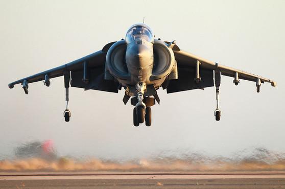 Harrier V/STOL jet fighter