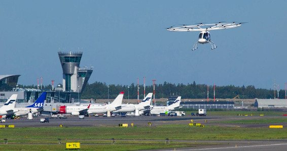 Volocopter 2X in Helsinki Airport