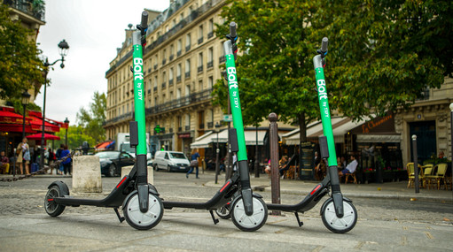 Bolt by Taxify e-scooters in Paris