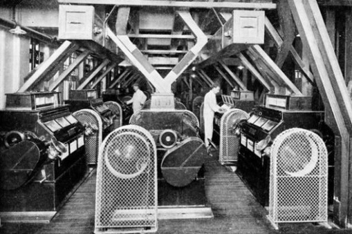 Early automated flour mills