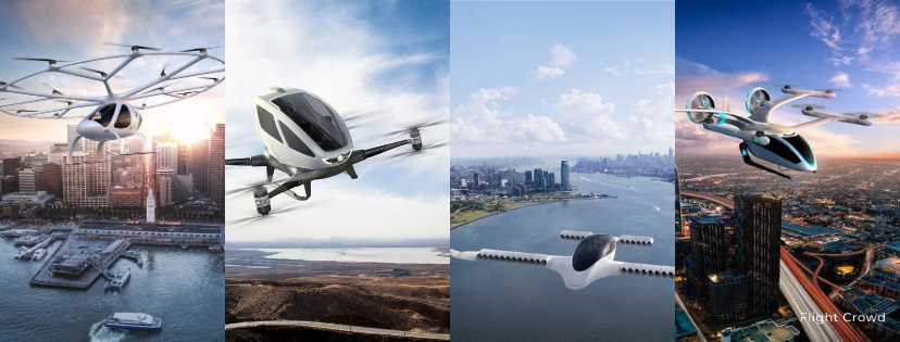 A collage of some eVTOL designs