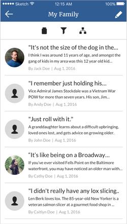 Story list - mobile