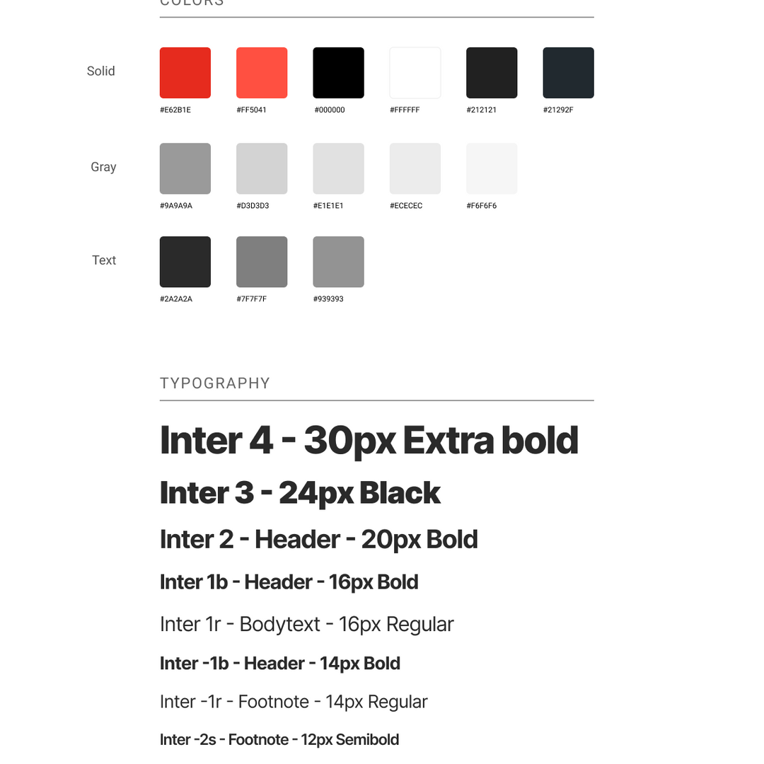 Web app style guide