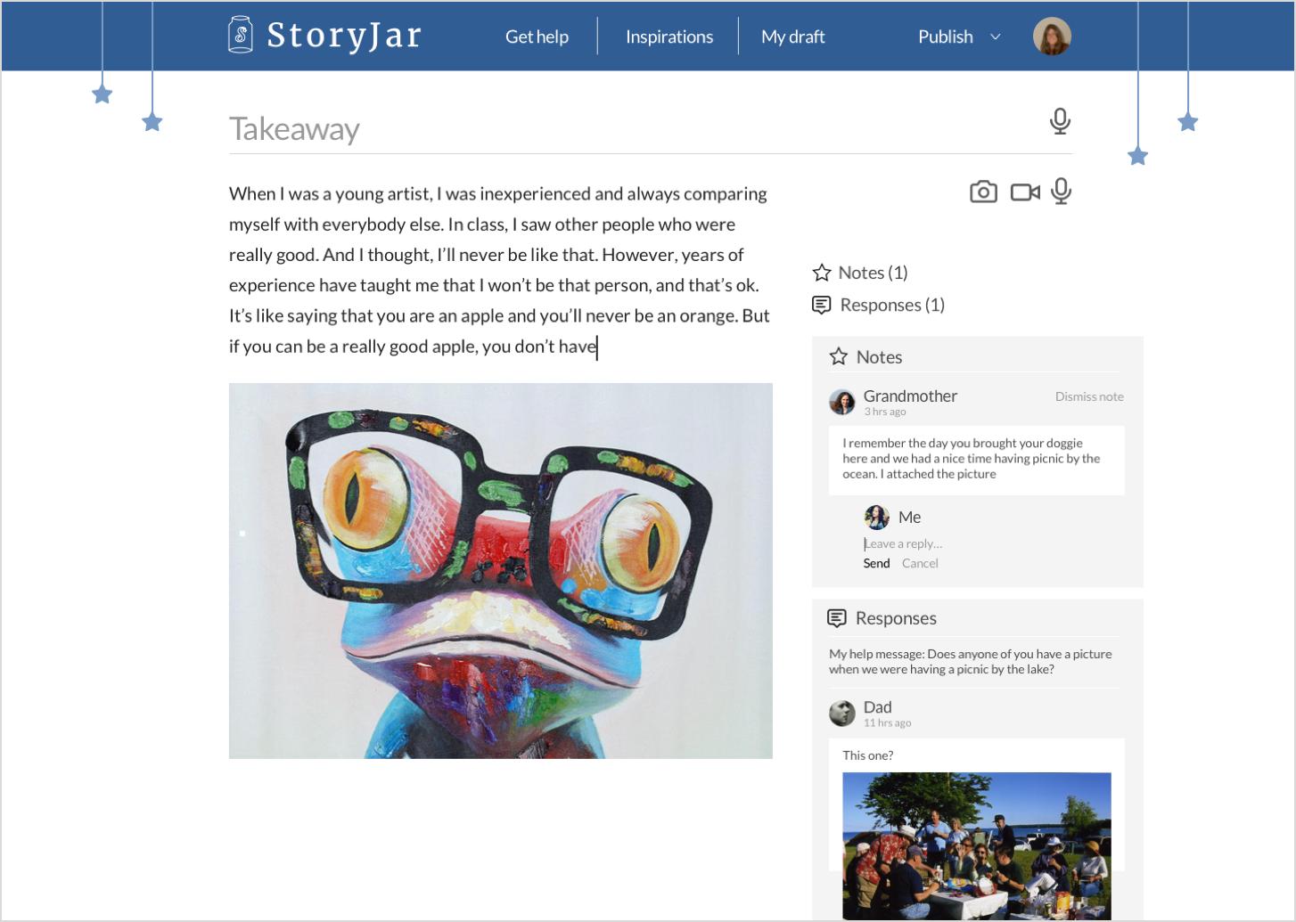 Story consumption - web