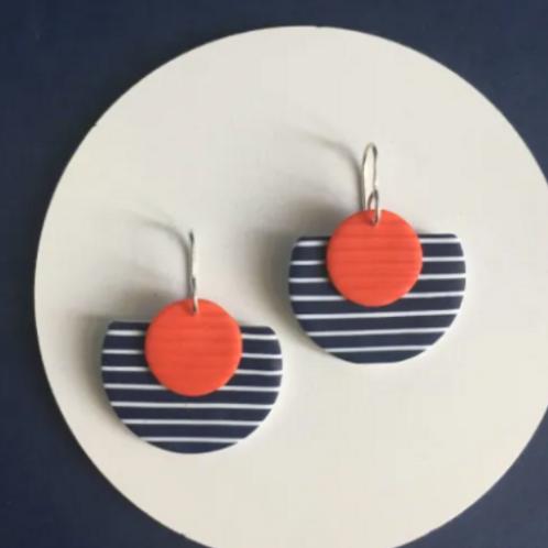 Nadege Honey - Breton Guerande red earrings