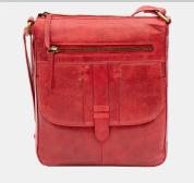 Primehide Arizona Crossbody leather handbag - Red