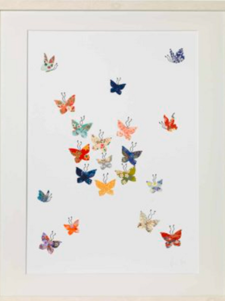 Eloise hall A4 Mounted print - Butterfly cloud